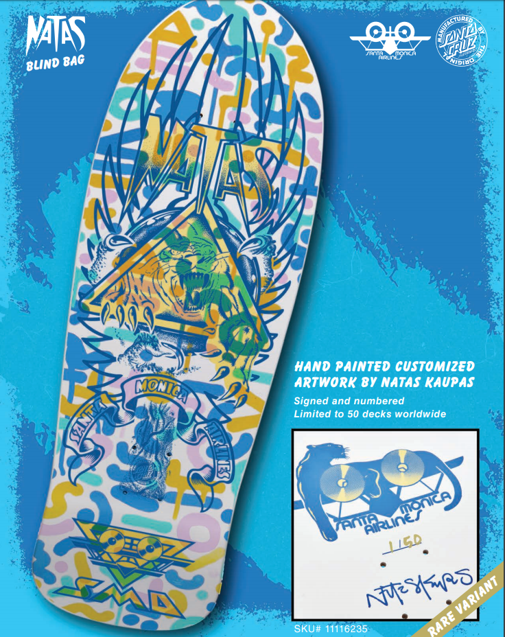 Santa Cruz SMA Natas Kaupas Hand Painted decks limited editon collector board