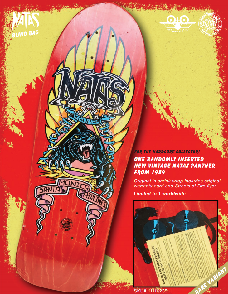 Natas Blind Bag Deck SMA re-issue one of one 1989