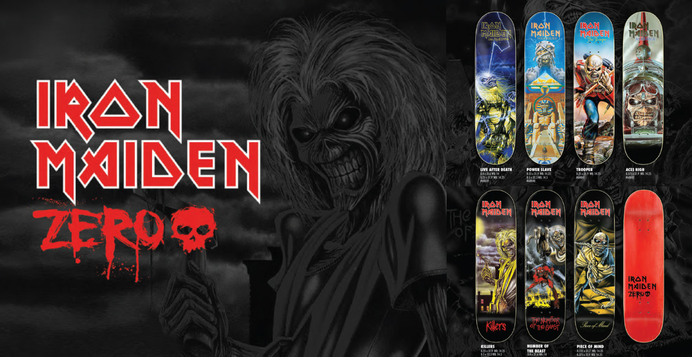 Iron Maiden X Zero Skateboards