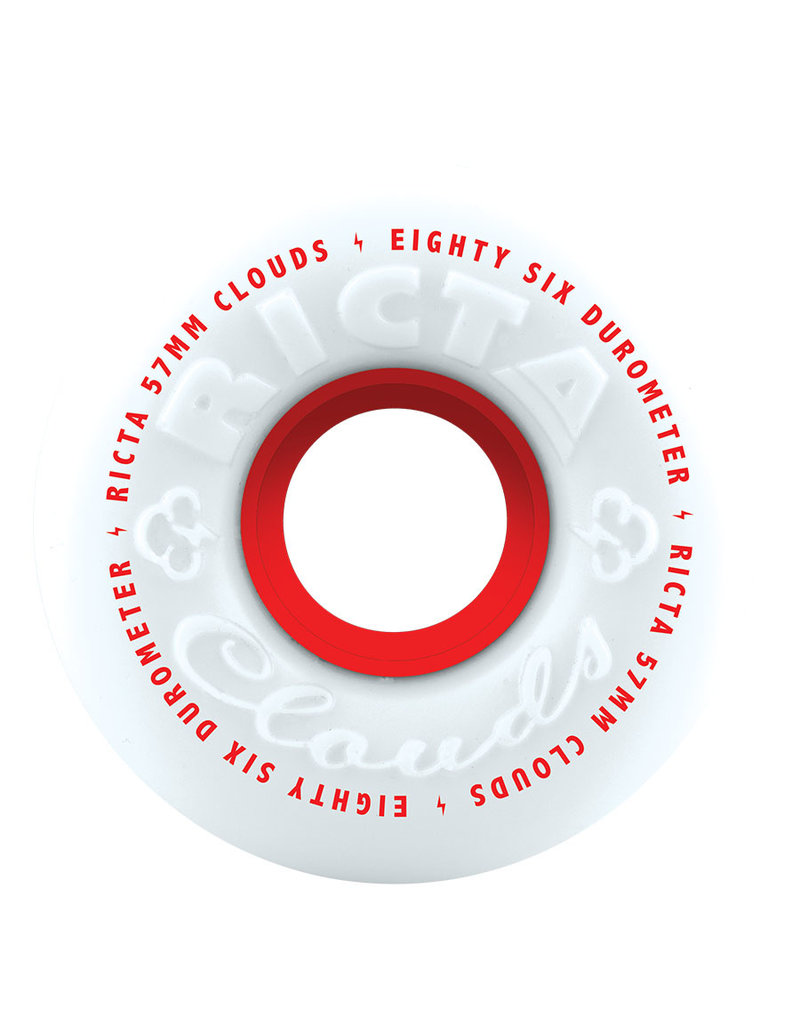 Ricta Clouds Red Wheels 86A (53mm)