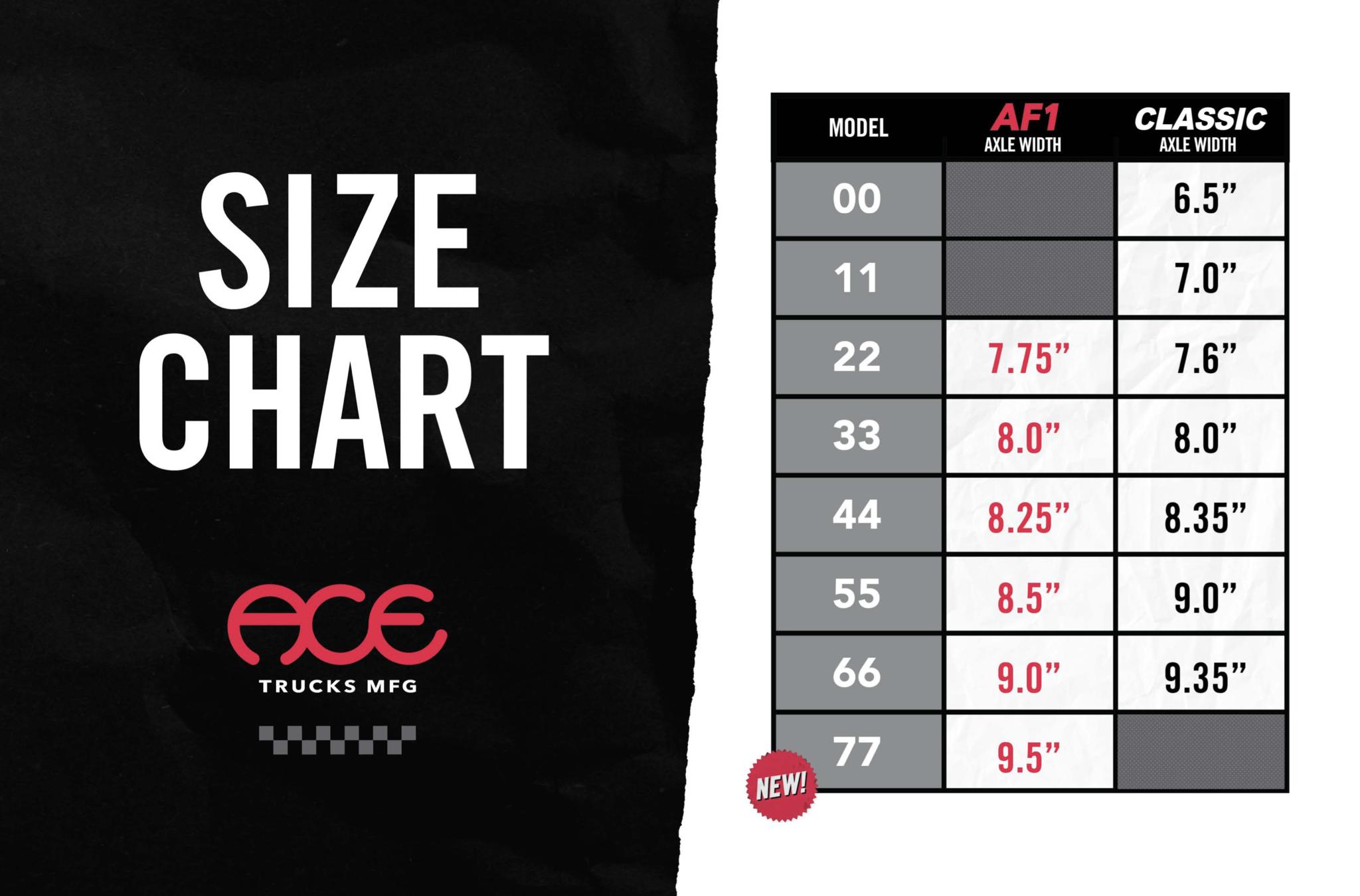 ace trucks sizing chart online
