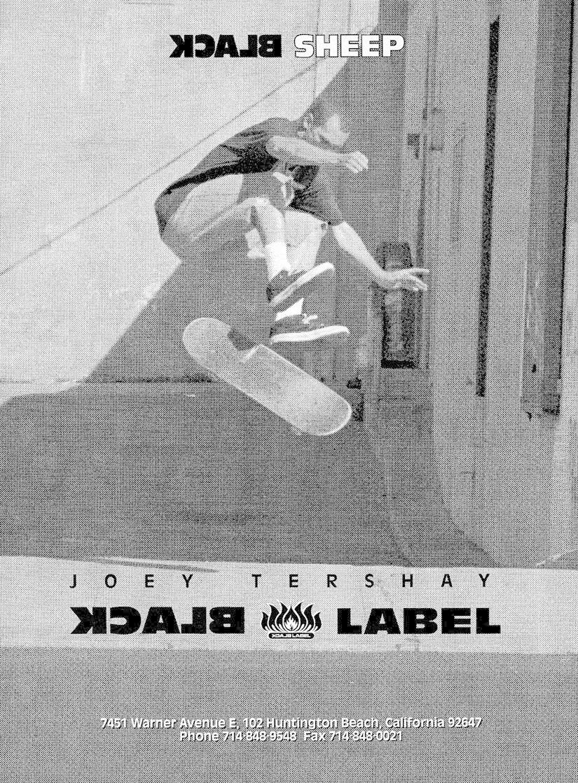 Joey Tershay Ace trucks black label ad