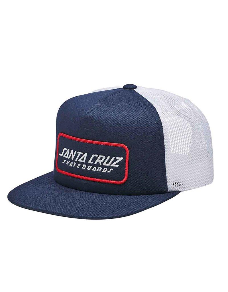 Santa Cruz Strip Mesh Trucker (White) O/S