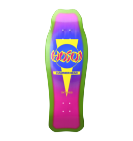 Hosoi Skateboards Hosoi Sunburst Hammerhead Double Kick Deck Green/Pink (10.25)