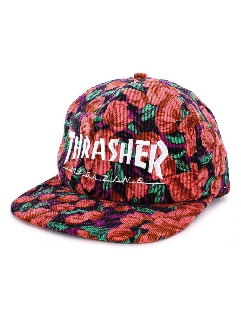 Thrasher Thrasher Pink Floral Mag Logo Snapback Hat