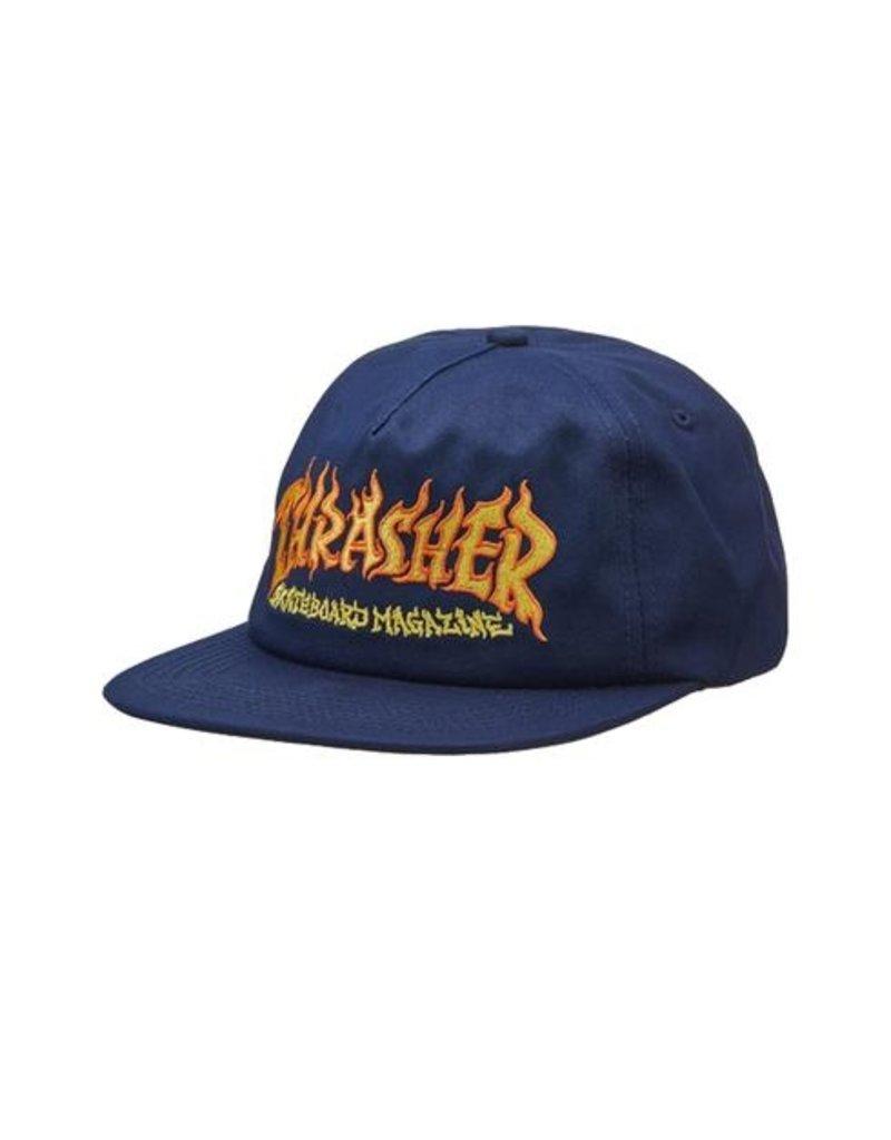 Thrasher Thrasher Fire Logo Snapback Hat (navy)