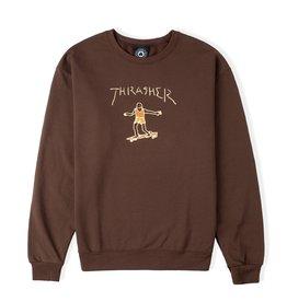 Thrasher Thrasher Gonz Logo Crewneck (Dark Chocolate)