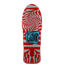 Vision Skateboards Vision Gator II Re-Issue Deck (10.25) Red/Silver