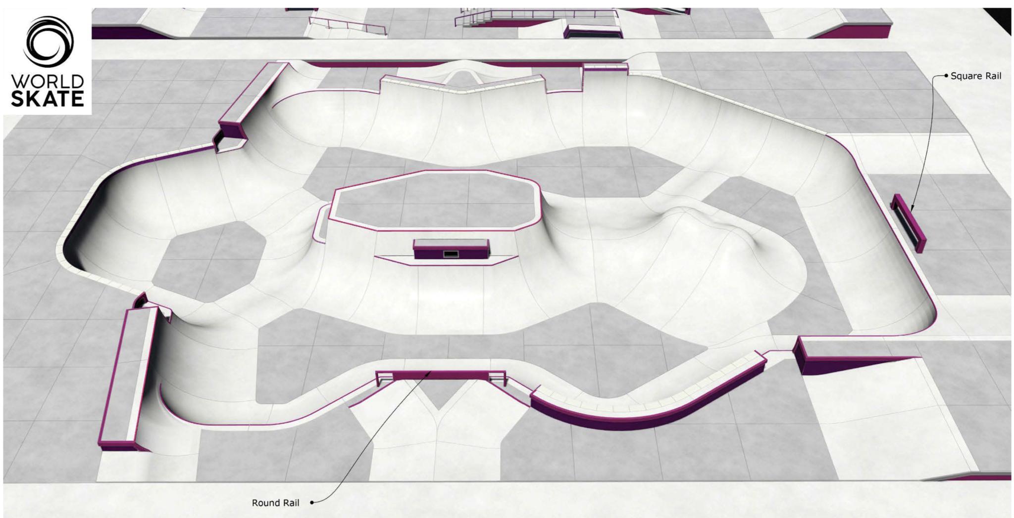 Japan 2021 Olympic Skateboarding Park Bowl Course Section