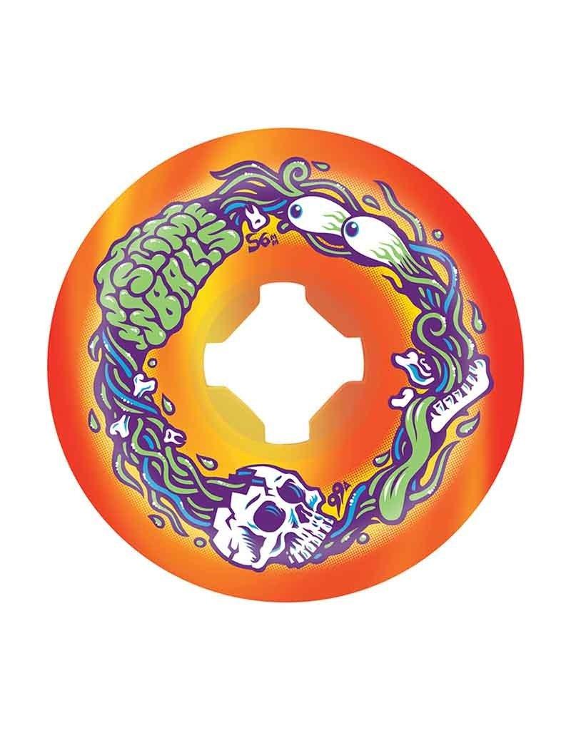Slime Balls Slime Balls Brains Speed Balls Wheels (56mm) 99A (Orange/Yellow)