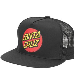 Santa Cruz Classic Dot Trucker Hat Black One Size