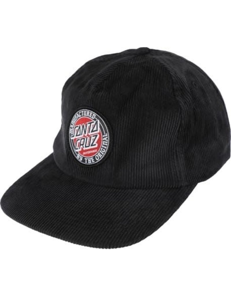 Santa Cruz MFG Dot Snapback Hat Black