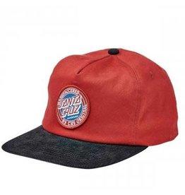 Santa Cruz MFG Dot Snapback Hat Burgundy/Black
