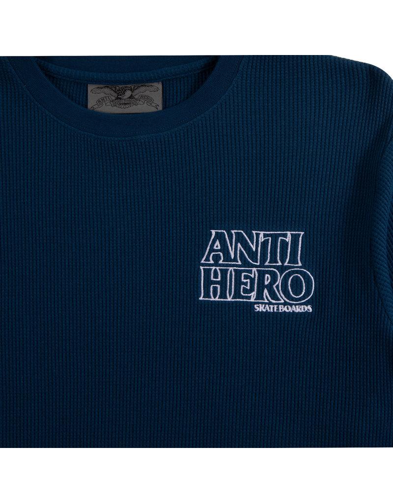 Anti Hero Anti Hero Lil Black Hero Outline Waffle Knit Crew