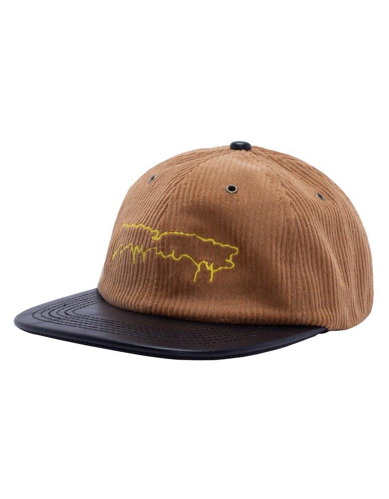 Fucking Awesome Fucking Awesome Drip Corduroy Strapback Hat (Camel)