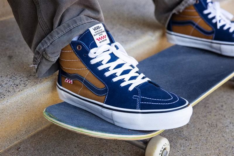 Vans Reynolds old skool shoes navy golden brown