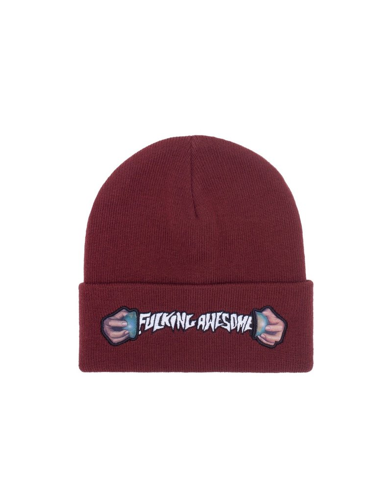 Fucking Awesome Fucking Awesome World Cup Cuff Beanie (Maroon))