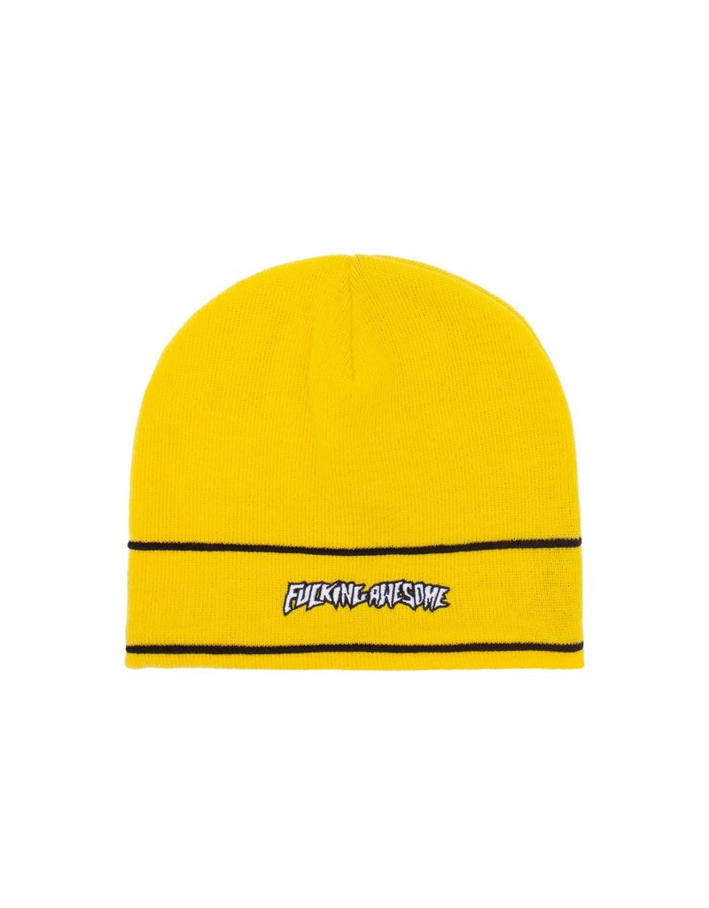 Fucking Awesome Fucking Awesome Little Stamp Stripe Beanie (Yellow/Black)