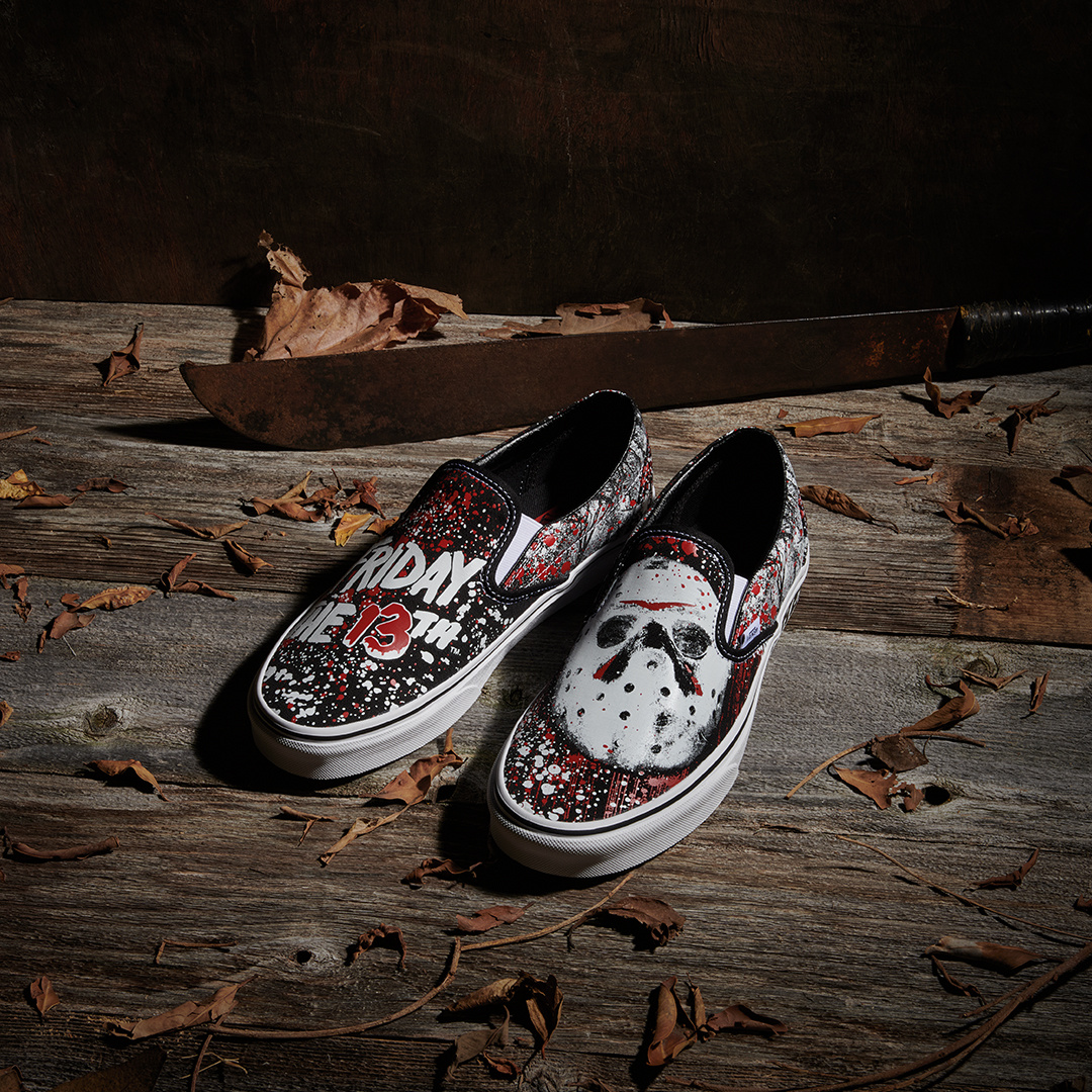 Vans Shoes Friday the 13th slip on glow in the dark
