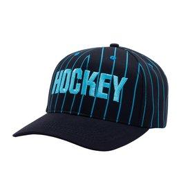 Hockey Hockey Striped Hat  (Black/Blue)