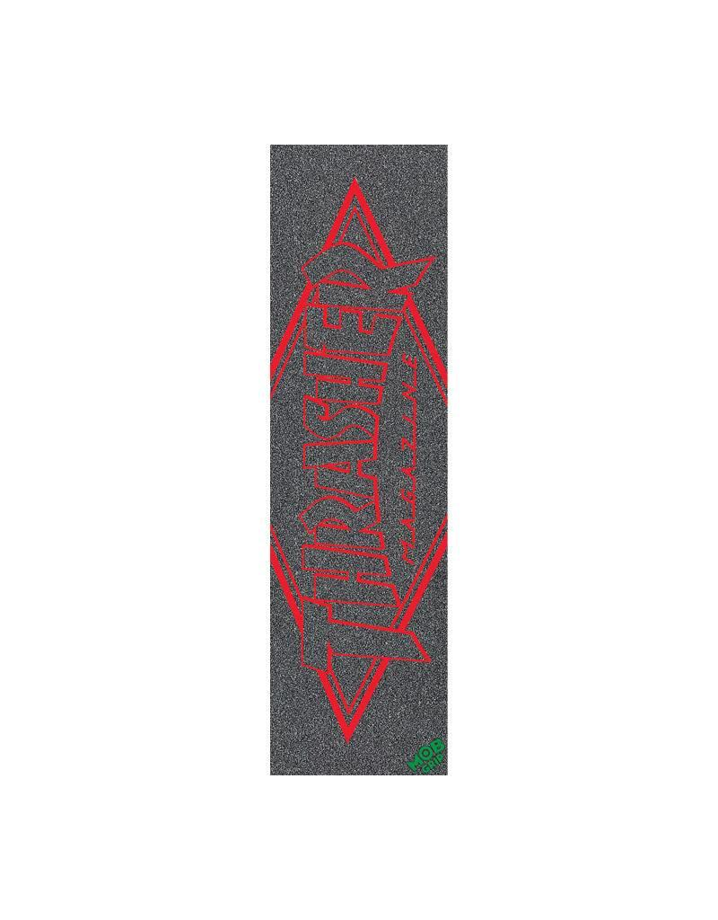 Mob Griptape Thrasher Red Outline Logo