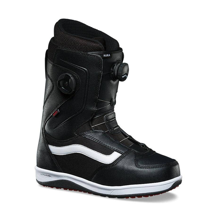 3af83fa46b Vans Men s Aura Snowboard Boots Black White Red - Shredz Shop
