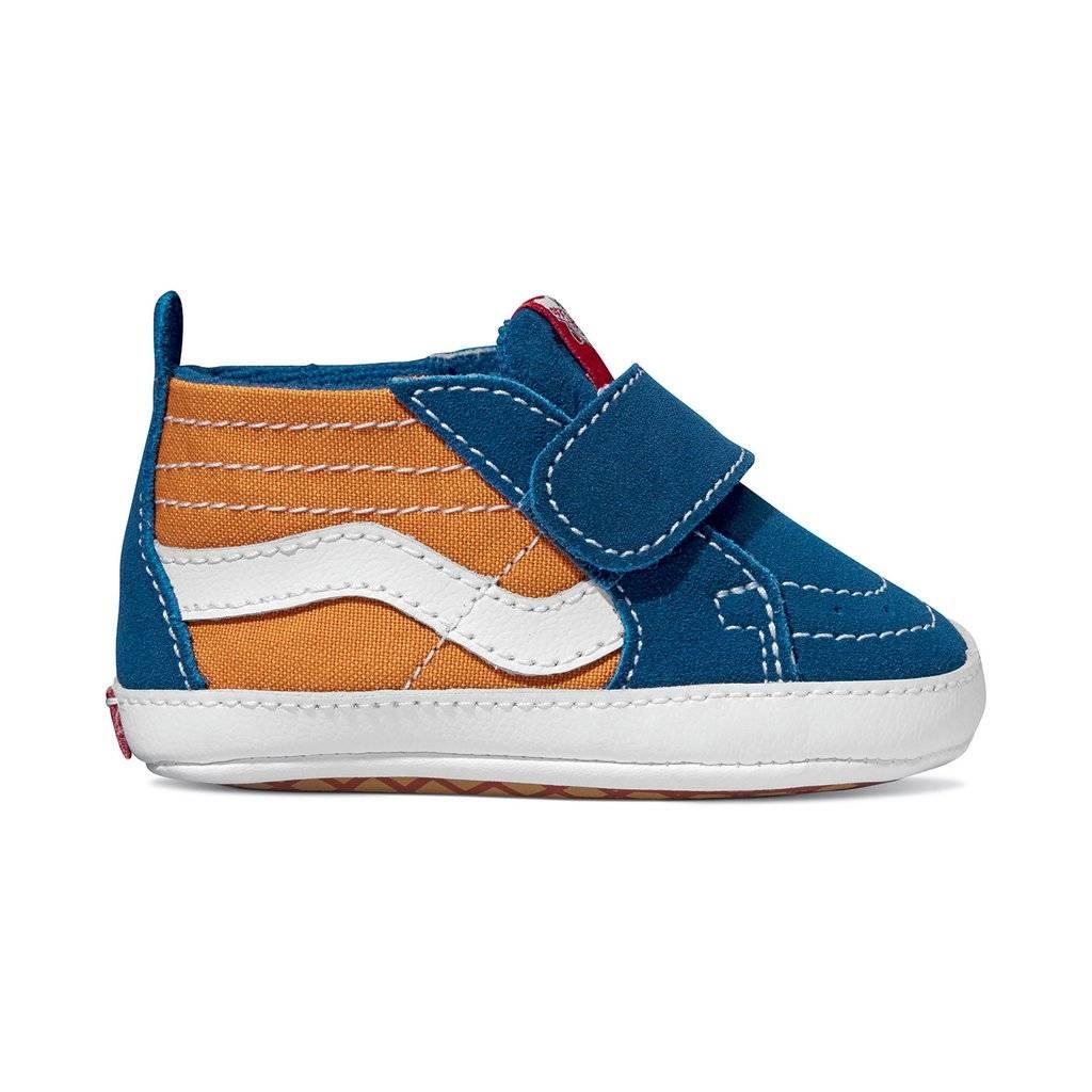 04c0b58e0dc36c Vans Infant Sk8-Hi Crib Shoes Og Blue  Og Gold - Shredz Shop