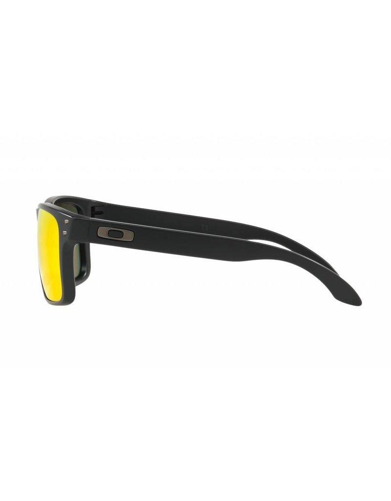 Oakley Holbrook Sunglasses (Black/ Ruby Irid Polar)