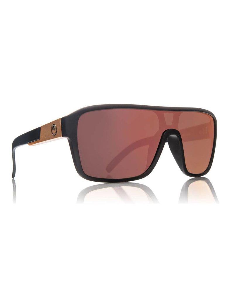 Dragon Remix Sunglasses (Matte Black/ Rose Gold Ion)