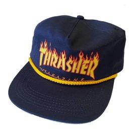 Thrasher Thrasher Flame Rope Snapback Hat (navy)