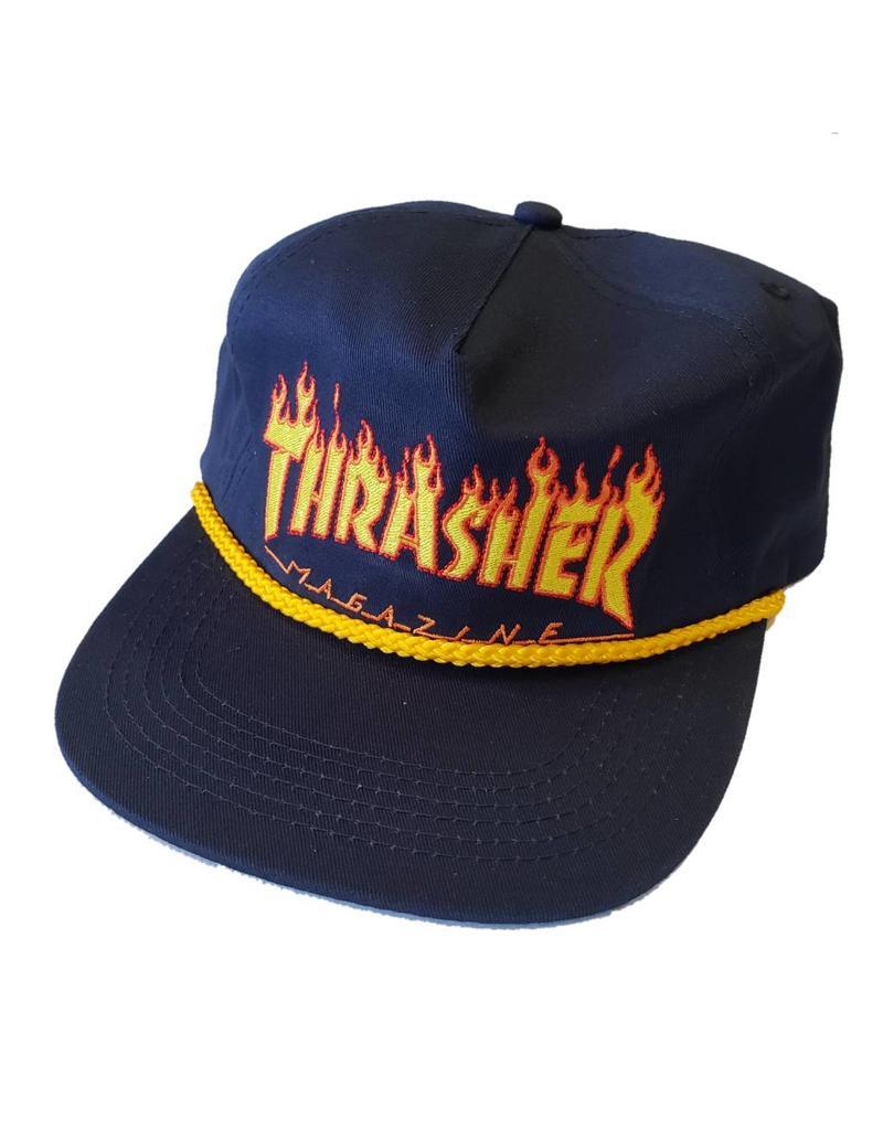 Thrasher Thrasher Flame Rope Snapback Hat (navy) - Shredz Shop 1d5a313f2