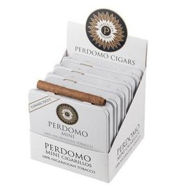 PERDOMO CIGAR CO. PERDOMO MINI CIGARILLOS CONNECTICUT WHITE TIN SINGLE