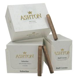 Ashton ASHTON CLASSIC WHITE HALF CORONA 10CT BOX