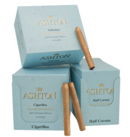 Ashton ASHTON BLUE HALF CORONA 10CT packs Box
