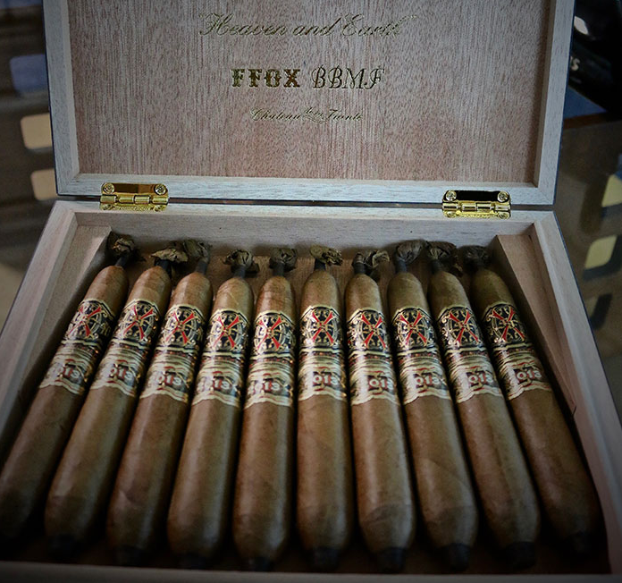 Arturo Fuente AF OPUS X HEAVEN AND EARTH BBMF Maduro LE WITH Travel HUMIDOR 10CT. BOX