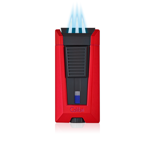 COLIBRI COLIBRI STEALTH 3 TRIPLE JET LIGHTER RED + BLACK