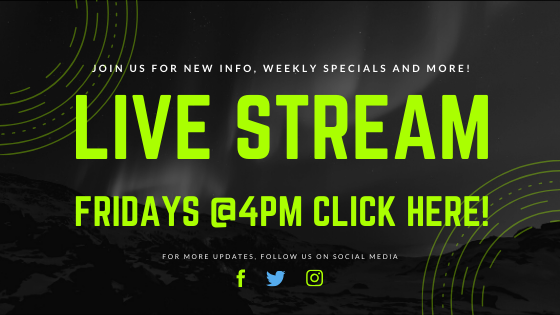 Next Live Stream Friday April 24th @4pm