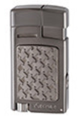 XIKAR INC. XIKAR 524BKB FORTE SOFT FLAME LIGHTER BLACK WITH BURL