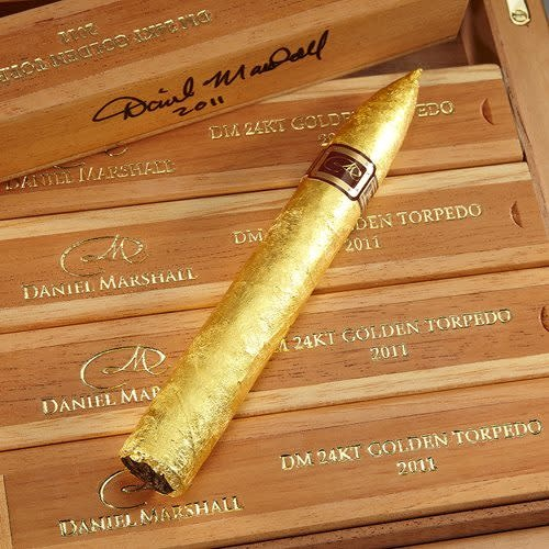 DANIEL MARSHALL 24KT GOLD CIGAR SINGLE