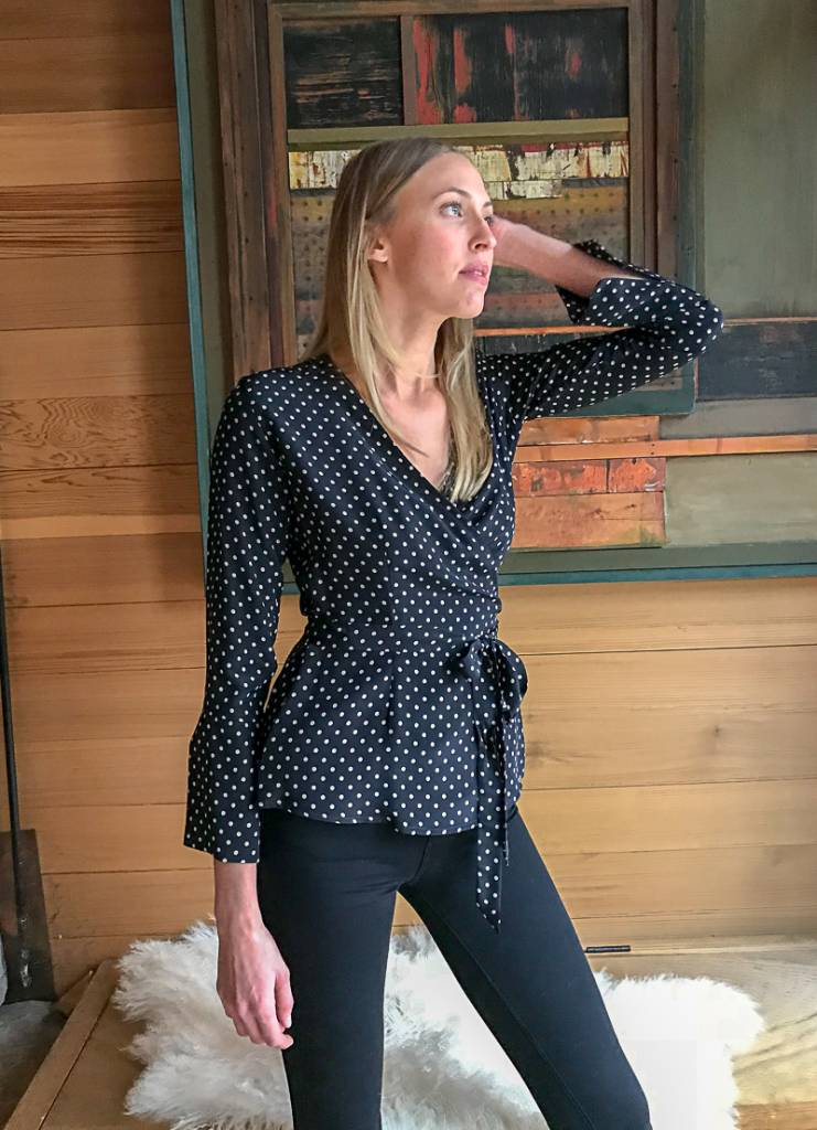 Jill McGowan Dottie Slim Wrap Shirt