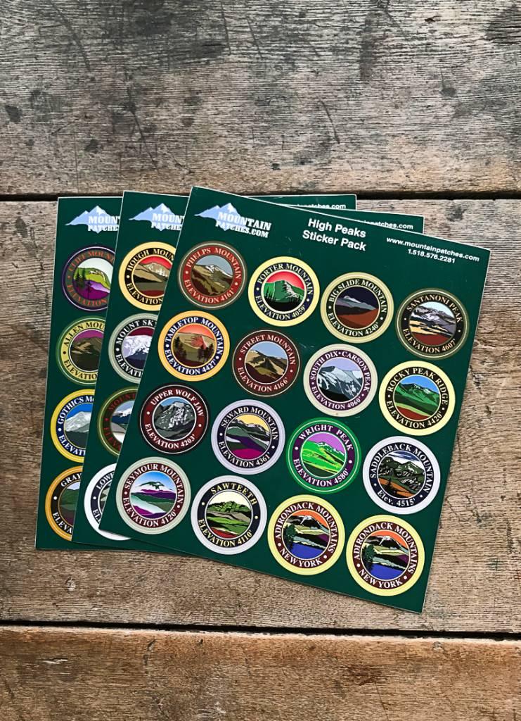 The Birch Store ADK High Peaks Sticker Pack