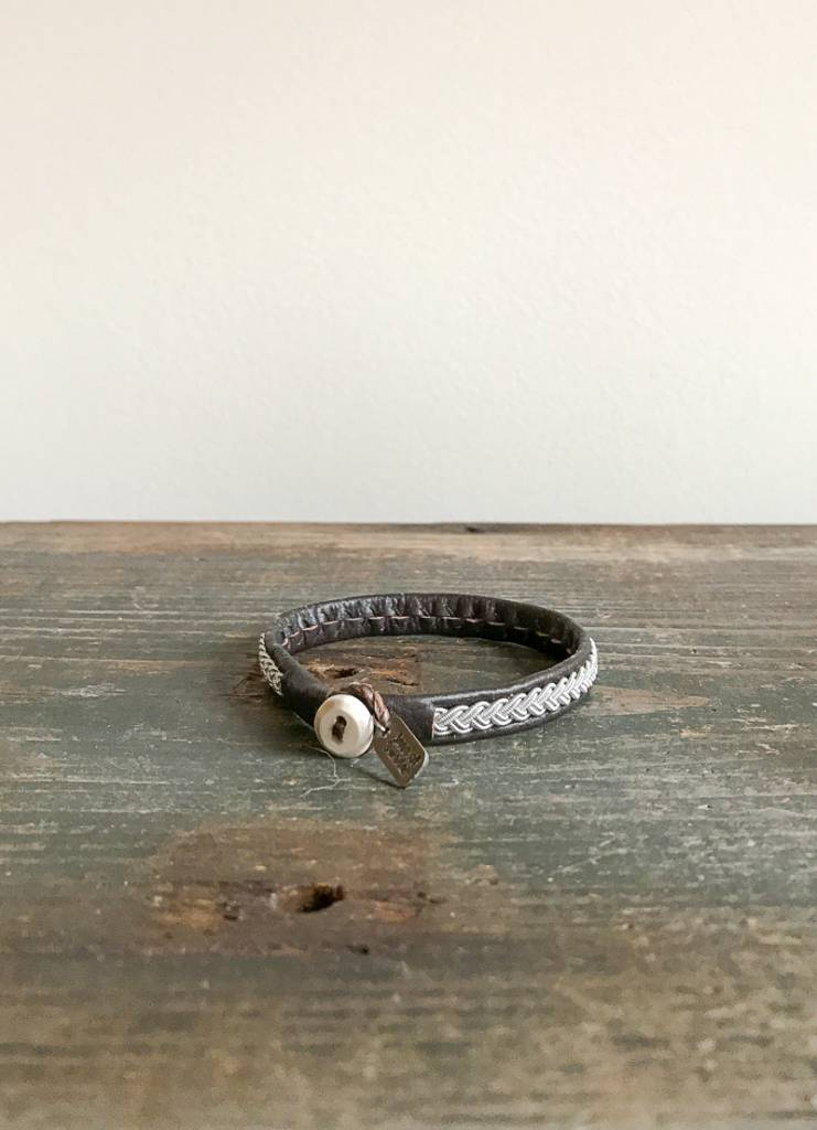 Cose Nuove Silver & Leather Bracelet