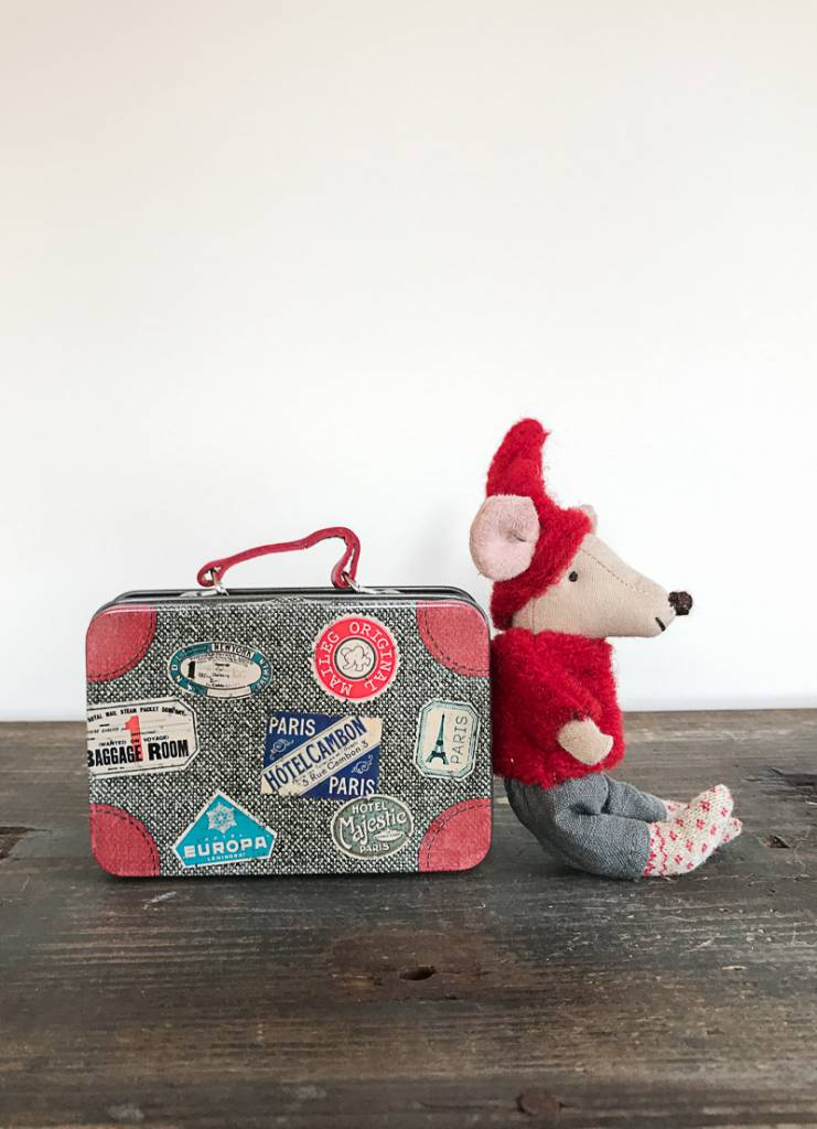 Maileg Travel Pixie Mouse in Suitcase