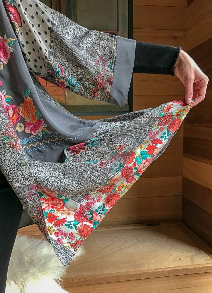 The Birch Store Ellamo Embroidered Kimono