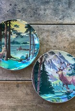 The Birch Store Deer Print Stoneware Plate Set