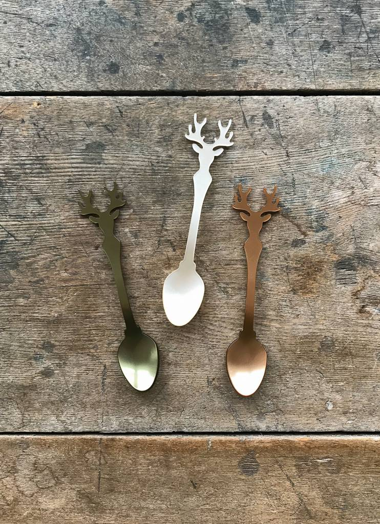 The Birch Store French Deer Silhouette Teaspoon