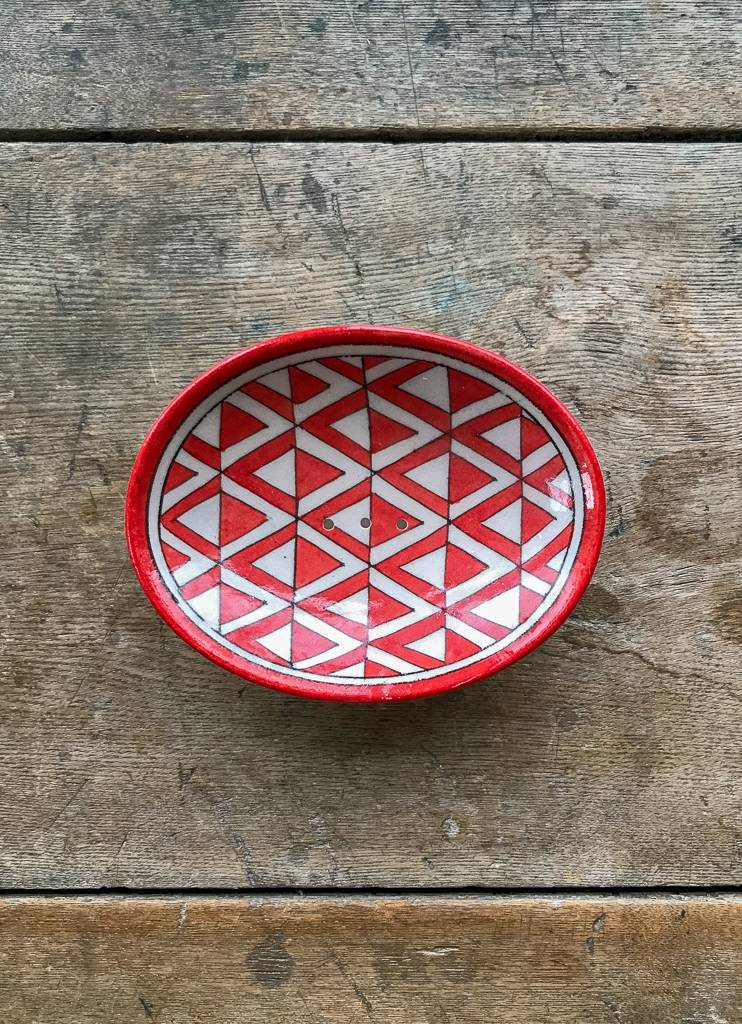 The Birch Store Oval Patterned Soap Dish