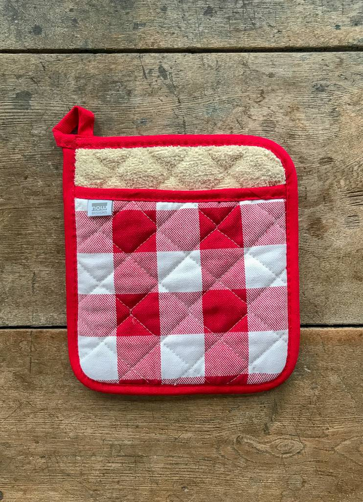 The Birch Store Red Check Potholder