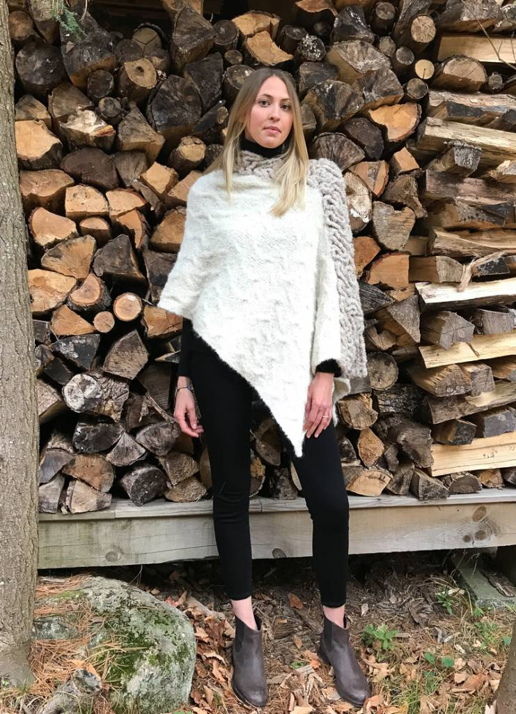The Birch Store Baby Alpaca Ivory Boucle Poncho