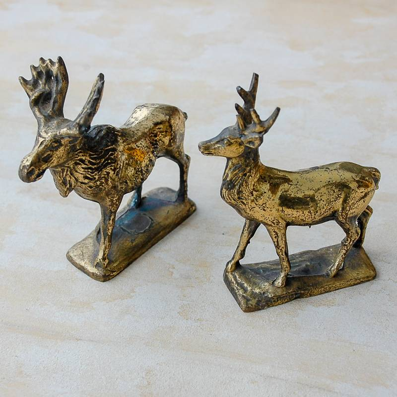 The Birch Store Bronze Moose & Deer